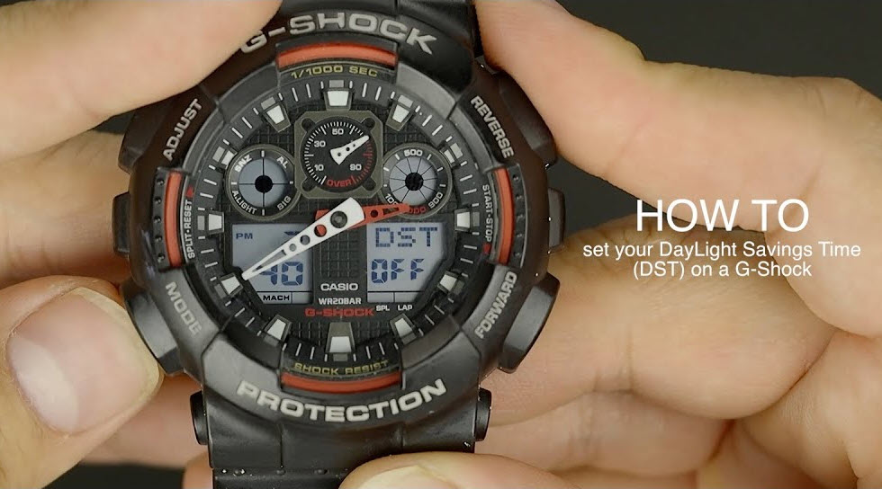 How to Set Daylight Saving Time On Casio G-Shock Watch