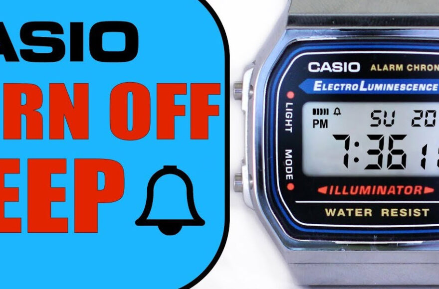 how to Turn Off Hourly Beep on Casio Watch