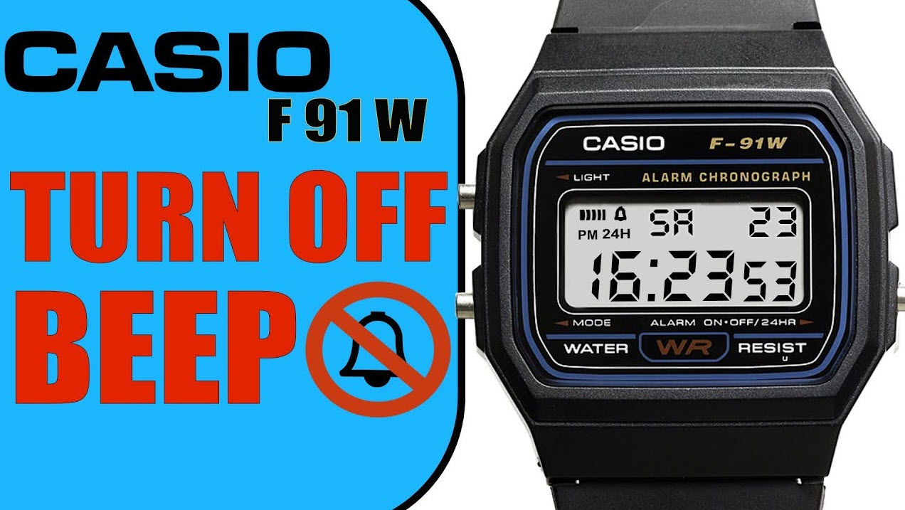 how to Turn the Alarm off on a Casio F 91w